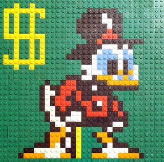 Scrooge McDuck LEGO Mosaic by notenoughbricks