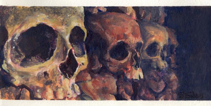 Gouache Skulls